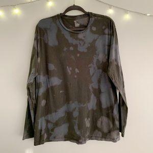 Custom bleach dyed long sleeve tee